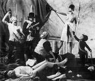 """Łódź Kaliska"""", inscenizowana fotografia dla której punktem wyjścia był obraz E. Delacroixa """"Wo /Encyklopedia Internautica"""
