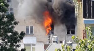 Łódź: Pożar kamienicy. Mężczyzna wyskoczył z okna