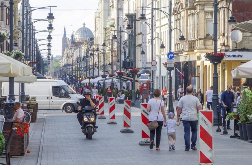 Łódź; ulica Piotrkowska /Piotr Kamionka /Reporter