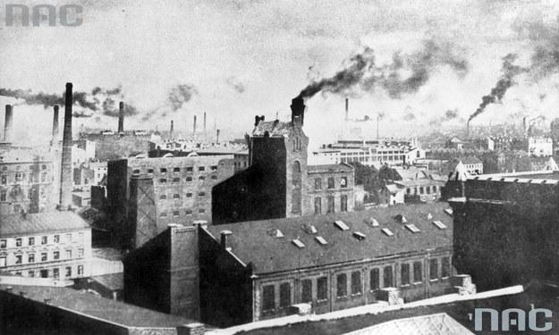 Łódź w czasach okupacji niemieckiej. Panorama miasta /Z archiwum Narodowego Archiwum Cyfrowego