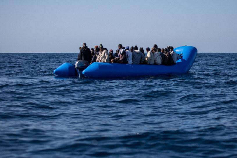 Łódź z migrantami (zdjęcie ilustracyjne) /Federico Scoppa /AFP