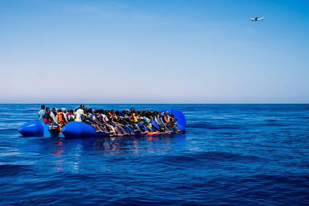 Łódź z migrantami /AA/ABACA /PAP/EPA