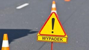 Łódzkie: Autobus wpadł do rowu na A2