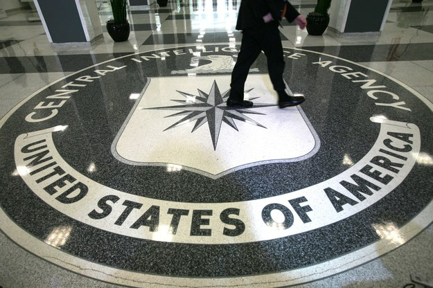 Logo CIA na mozaice w centrali w Langley /PAP/Photoshot /PAP