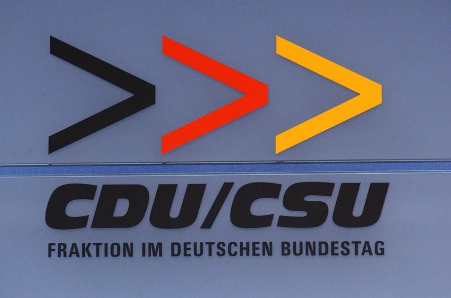 Logo frakcji CDU/CSU / TIM BRAKEMEIER   (PAP/DPA) /PAP/EPA