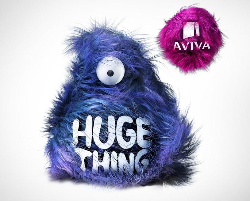 Logo HugeThing.vc powered by Aviva /materiały prasowe