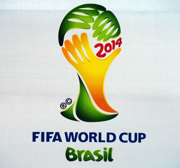 Logo mundialu w Brazylii /AFP
