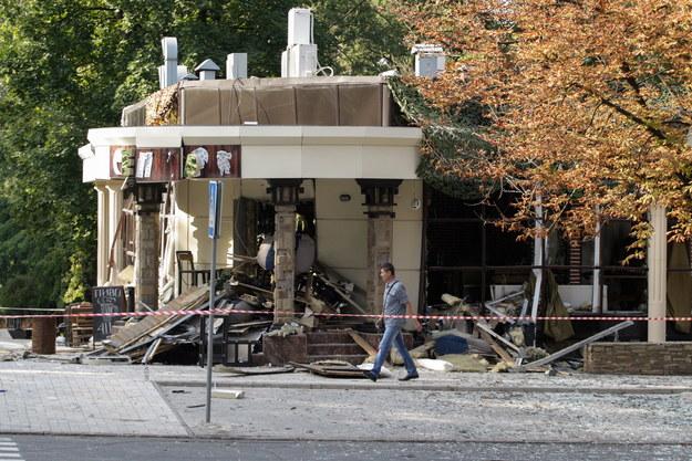Lokal zniszczony przez eksplozję, w wyniku której miał zginąć Zacharczenko /ALEXANDER ERMOCHENKO /PAP/EPA
