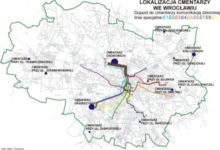 Lokalizacja cmentarzy we Wrocławiu /materiały prasowe