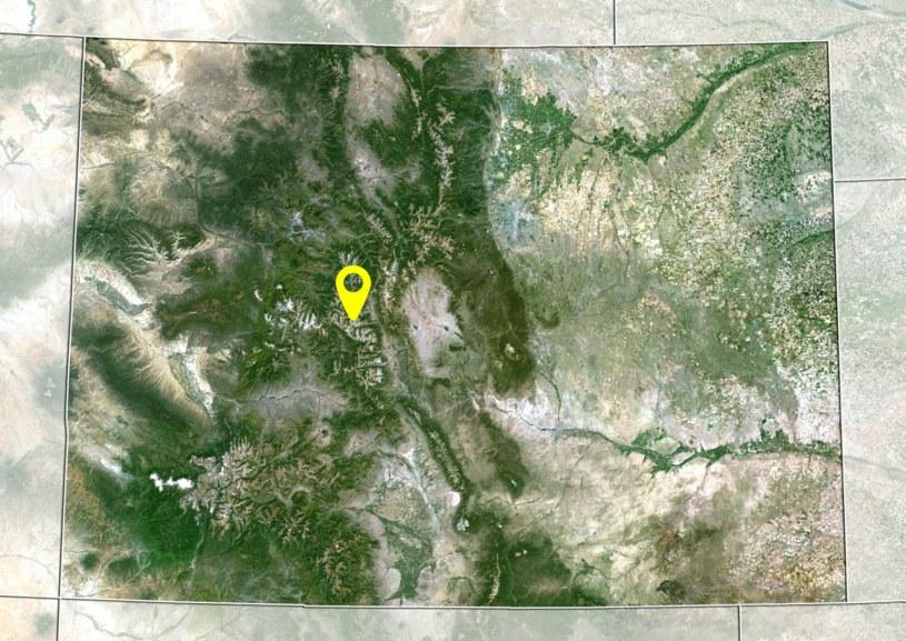 Lokalizacja Treasure Mountain na mapie Kolorado /Planet Observer/UIG /East News
