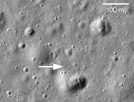 Lokalizacja zaginionego lusterka/fot. NASA/GSFC/Arizona State University /