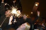 Londyńczycy na Trafalgar Square /RMF24.pl