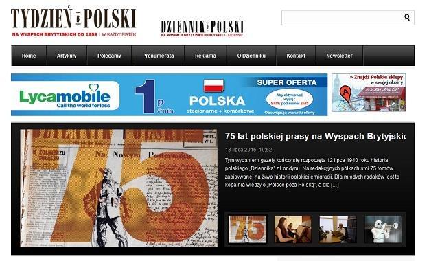 """Londyński """"Dziennik Polski"""" staje się tygodnikiem /"""