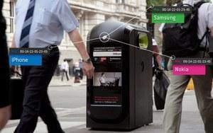 Londyńskie kosze na śmieci zbierają dane o przechodniach