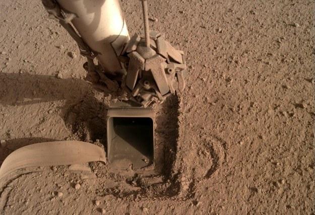 Łopatka wciskająca Kreta w grunt /NASA/JPL-Caltech /Materiały prasowe