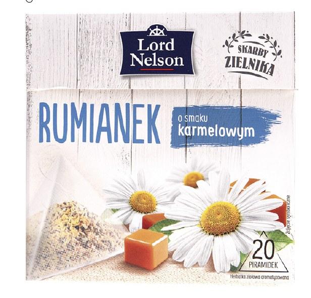 Lord Nelson - herbatka ziołowa rumianek o smaku karmelowym, 28 g /Informacja prasowa