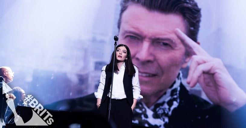 Lorde podczas gali Brit Awards // Facebook /