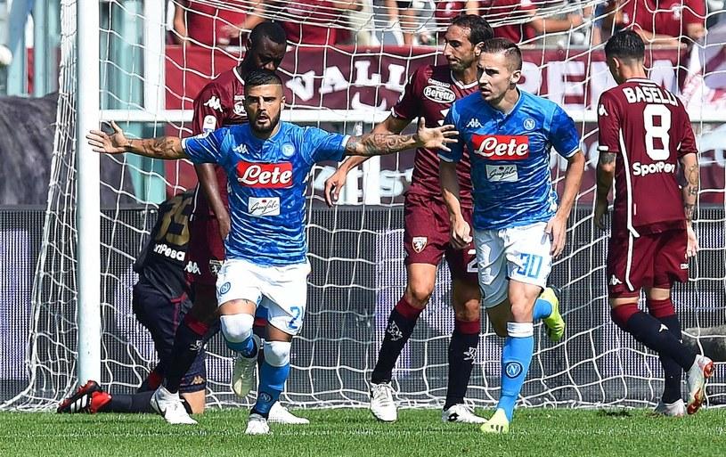 Lorenzo Insigne cieszy się z gola dla Napoli /PAP/EPA