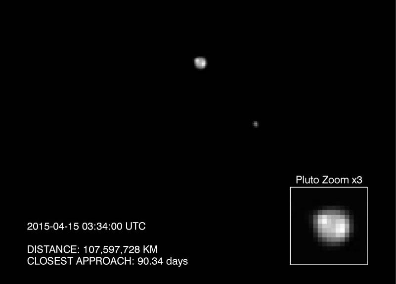 LORRI obserwuje Plutona i Charona. /NASA