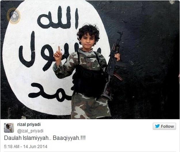 Los dzieci Państwa Islamskiego często bywa okrutny, fot. Twitter /