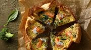 Łososiowa frittata ze szpinakiem