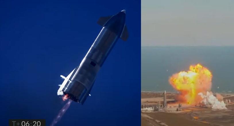 Lot Starshipa SN9 zakończony eksplozją /materiały prasowe