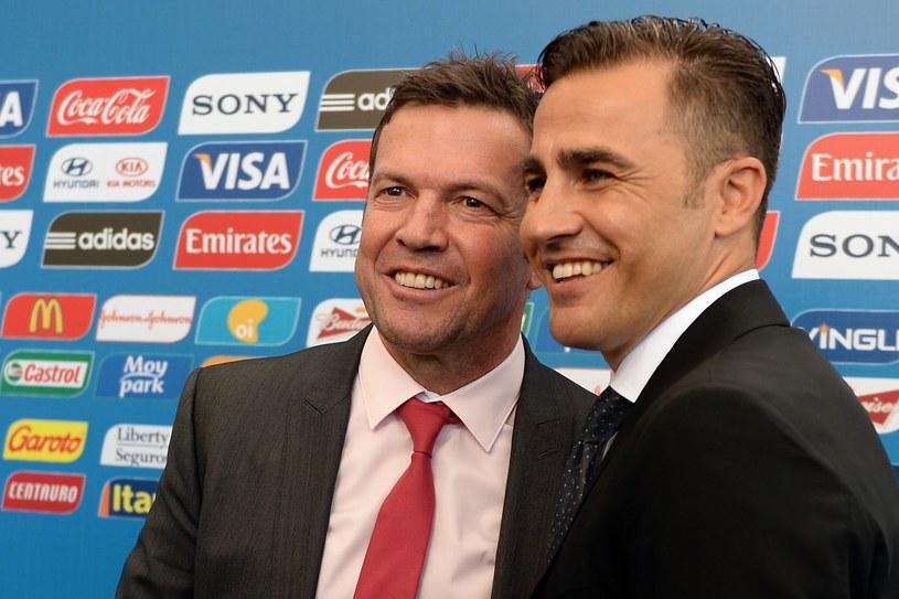 Lothar Matthaeus (z lewej) obok Fabio Cannavaro /AFP