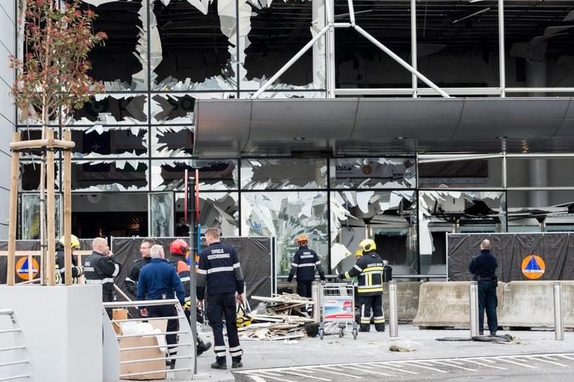 Lotnisko po wybuchach /GEERT VANDEN WIJNGAERT /PAP/EPA