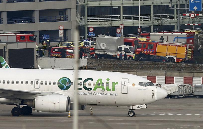 Lotnisko w Brukseli. Trwa akcja służb /REUTERS/Francois Lenoir /Agencja FORUM
