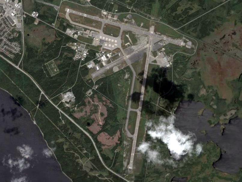 Lotnisko w Gander z lotu ptaka /Wikimedia