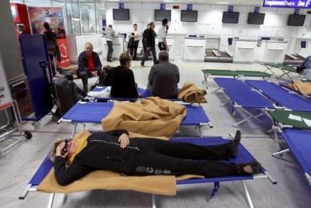 Lotnisko w Nicei - następstwa paraliżu lotniczego. /AFP