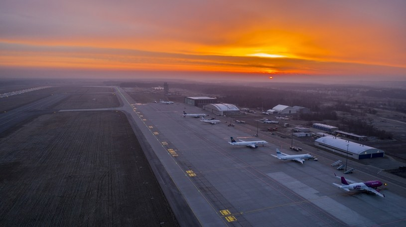 Lotnisko w Pyrzowicach /Robert Neumann /Agencja FORUM