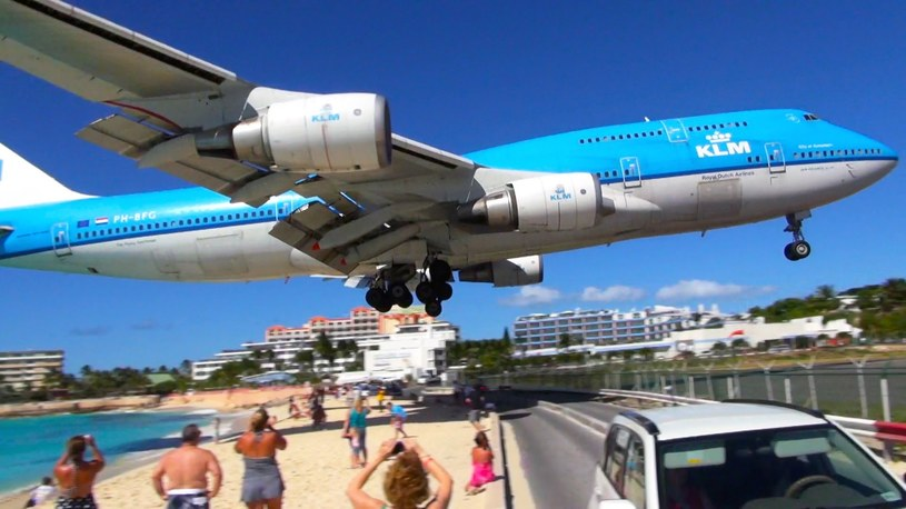 Lotnisko w Sint Maarten, fot. Youtube /