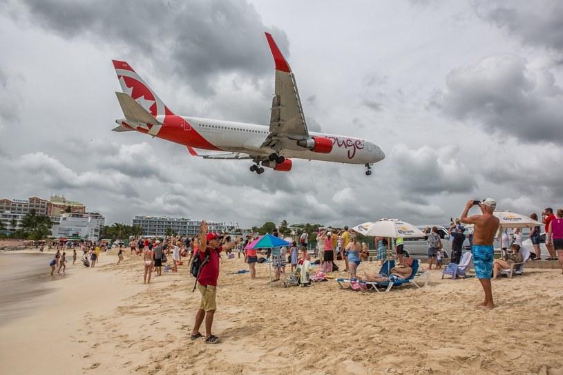 Lotnisko w St Maarten /Michal Adamowski /Reporter