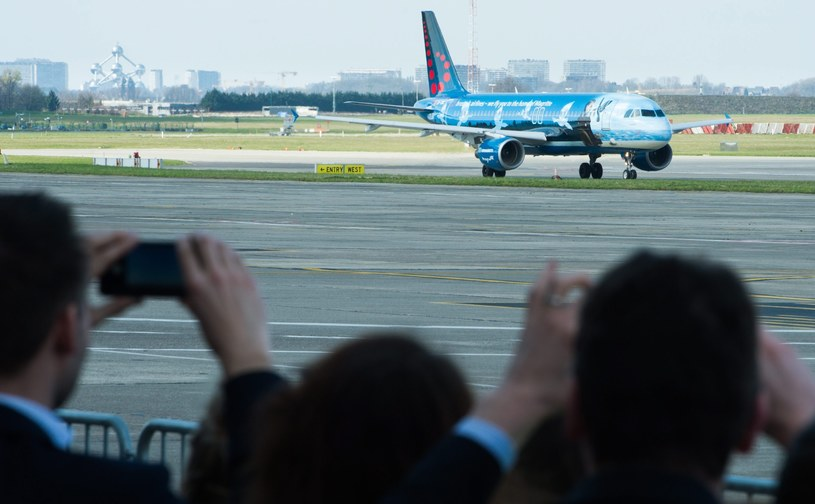 Lotnisko Zaventem, start pierwszego samolotu /PAP/EPA