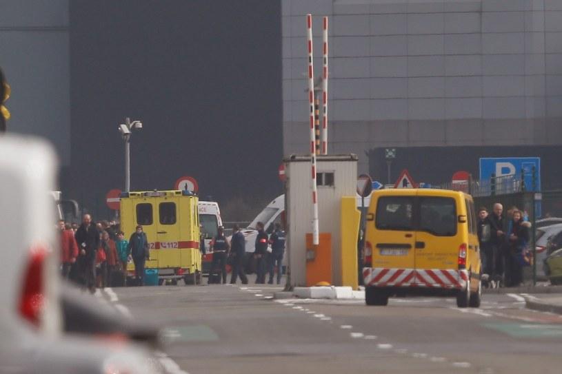 Lotnisko Zaventem w Brukseli /LAURENT DUBRULE    /PAP/EPA