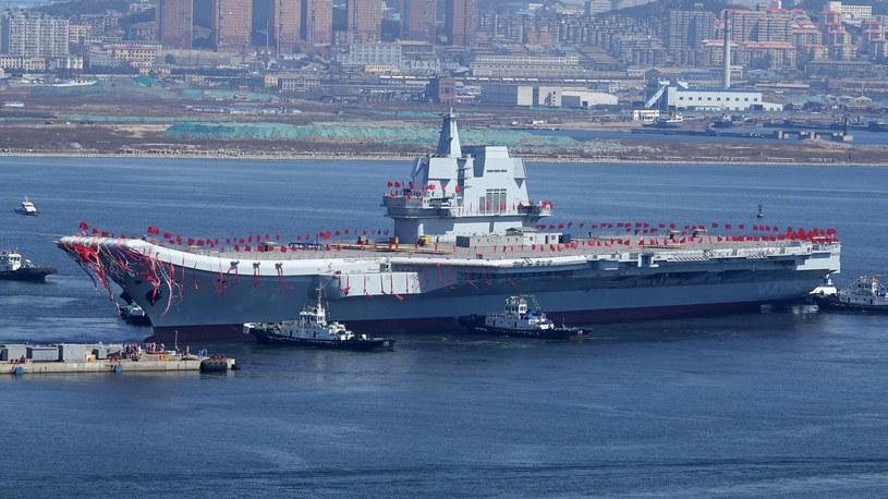 Lotniskowiec uchodzi za symbol ambicji Pekinu /STR /AFP