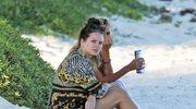 Lottie Moss zaliczyła wpadkę na plaży