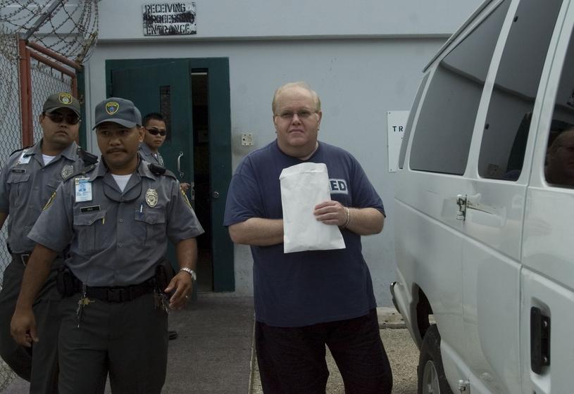 Lou Pearlman w 2007 roku krótko przed przejazdem do aresztu /Masako Watanabe/The Pacific Daily/AP/Fotolink /East News