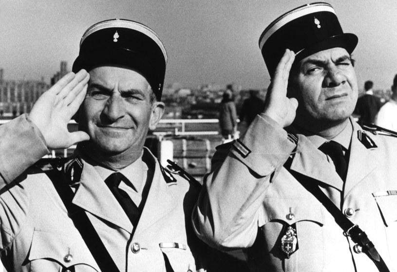 "Louis de Funes (L) i Michel Galabru (P) w ""Żandarmie z Saint-Tropez"" /AKPA"