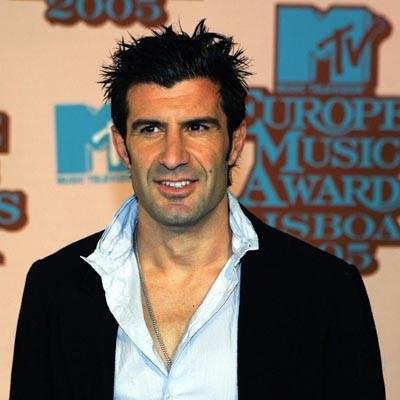 Louis Figo, słynny portugalski piłkarz, wręczy jedną z nagród MTV /AFP