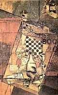 Louis Marcoussis, Martwa natura z szachownicą, 1912 /Encyklopedia Internautica