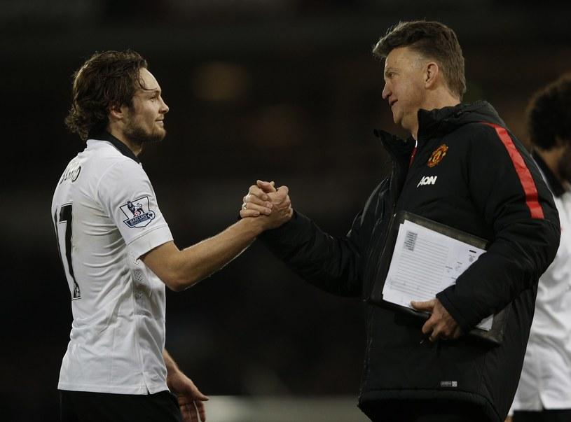 Louis van Gaal i Daley Blind /AFP