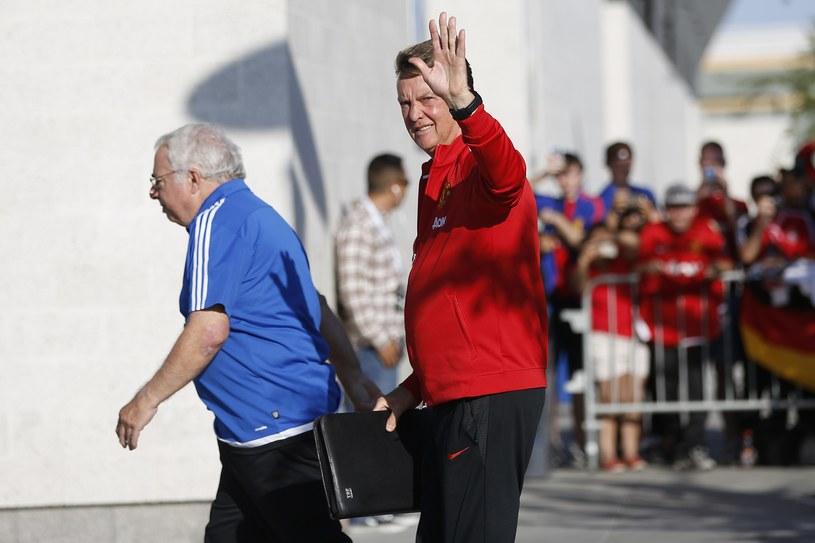 Louis van Gaal (z prawej) /AFP