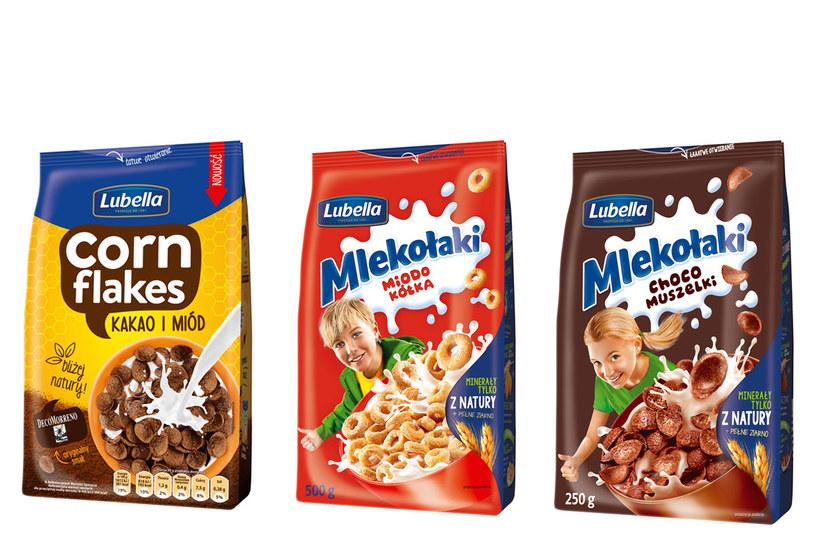 Lubella Corn Flakes i Lubella Mlekołaki /materiały prasowe