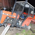 Lubelskie: Wypadek na przejeździe. Wjechał traktorem pod pociąg