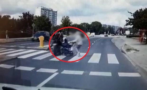 Lubin: Motocyklista wjechał w dziecięcy wózek i uciekł
