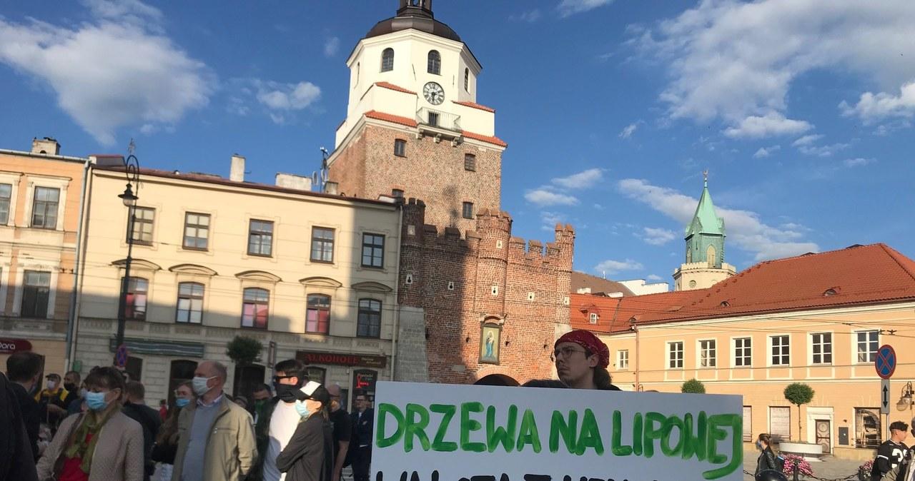 Lublin: Protest obrońców drzew