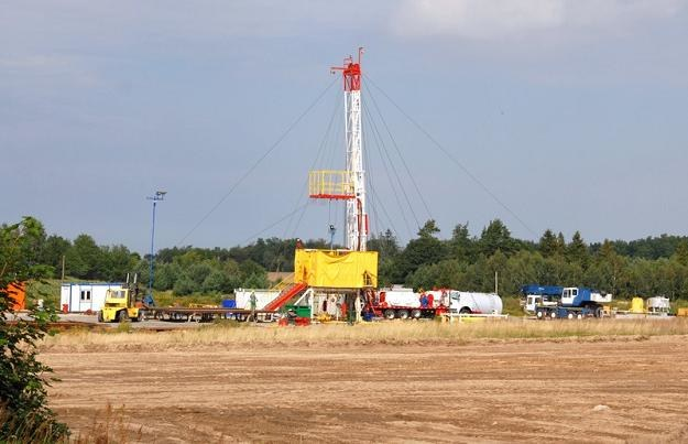Lubocino 1 - próbny odwiert gazu łupkowego. Fot. Tadeusz Późniak /Reporter
