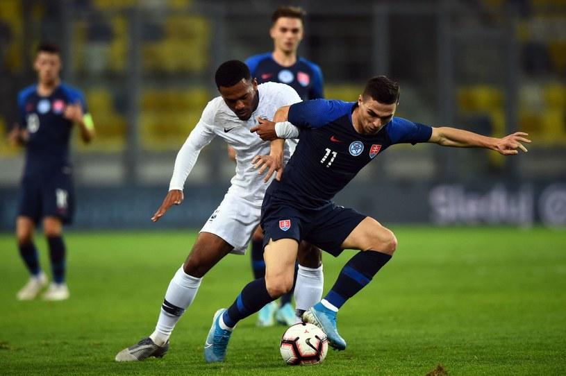 Lubomir Tupta w październikowym meczu reprezentacji do lat 21 Słowacja - Francja, rozegranym na MOL Arenie w Dunajskiej Stredzi /VLADIMIR SIMICEK  /AFP